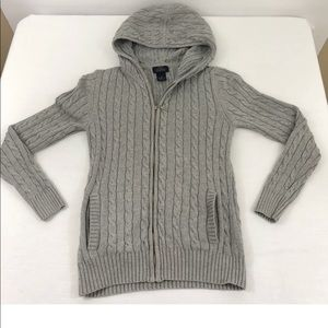 Brooks Brothers 346 Womens Knit Hooded Sweater Xs